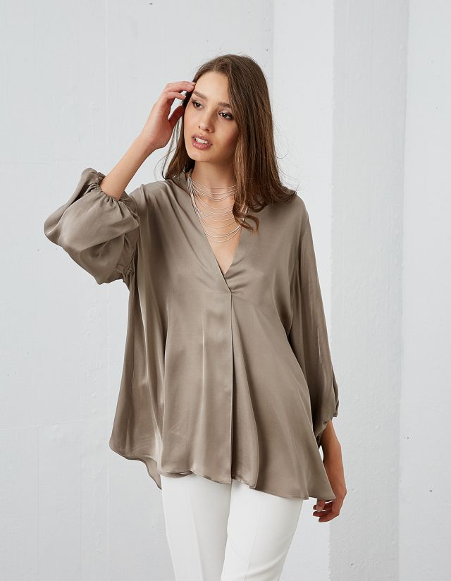 OVERSIZE SATIN BLOUSE