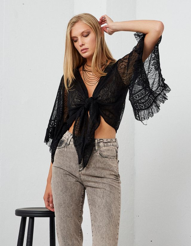 TWO WAY LACE CROP TOP