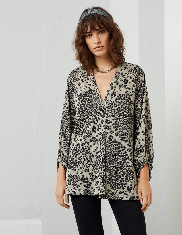 PRINTED LUREX TUNIC