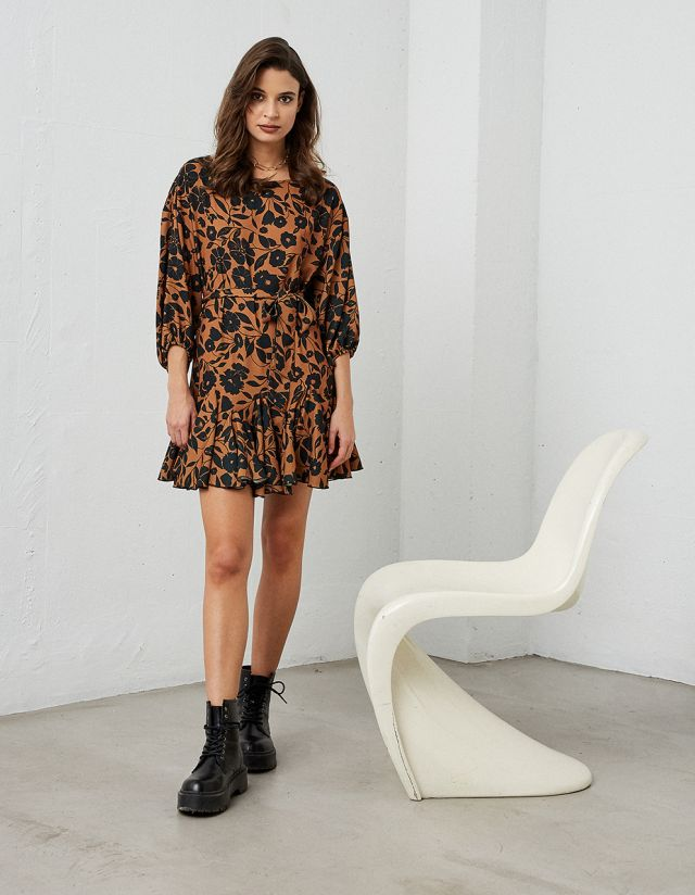 DRESS WITH PRINT