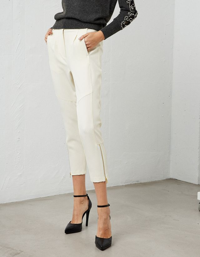 ZIPPER DETAILED TROUSERS