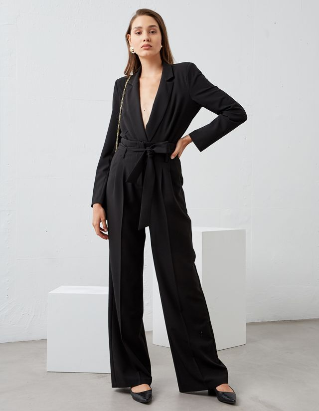 HIGH WAISTED TROUSERS WITH BELT