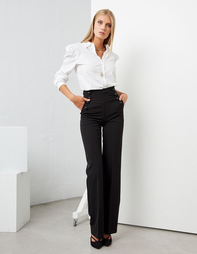 HIGH WAISTED TROUSERS WITH BUTTONS