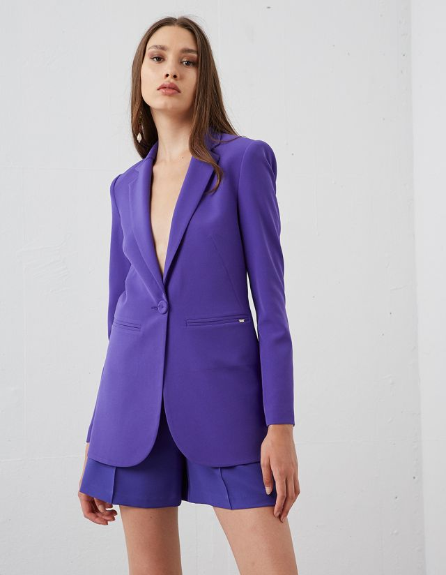 LONGLINE ONE-BUTTON BLAZER