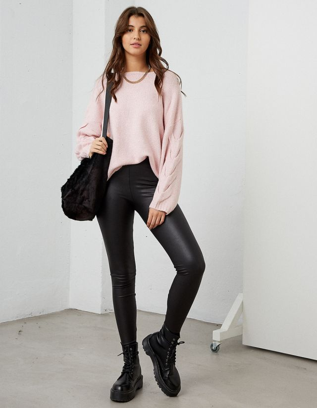 HIGHWAISTED LEATHER LOOK LEGGINGS