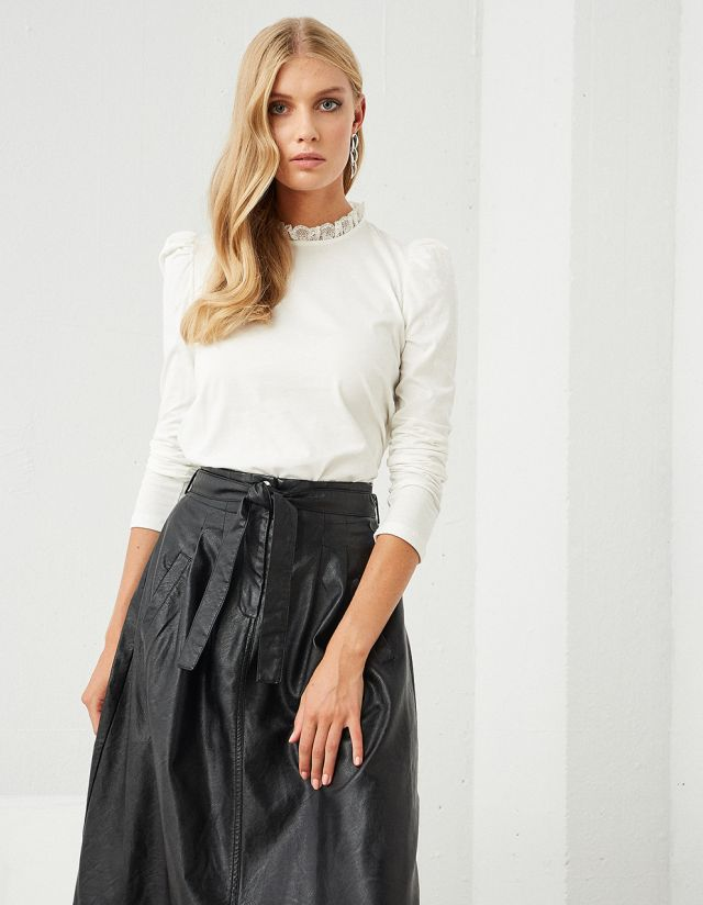 LONG SLEEVE TOP WITH HIGH NECK