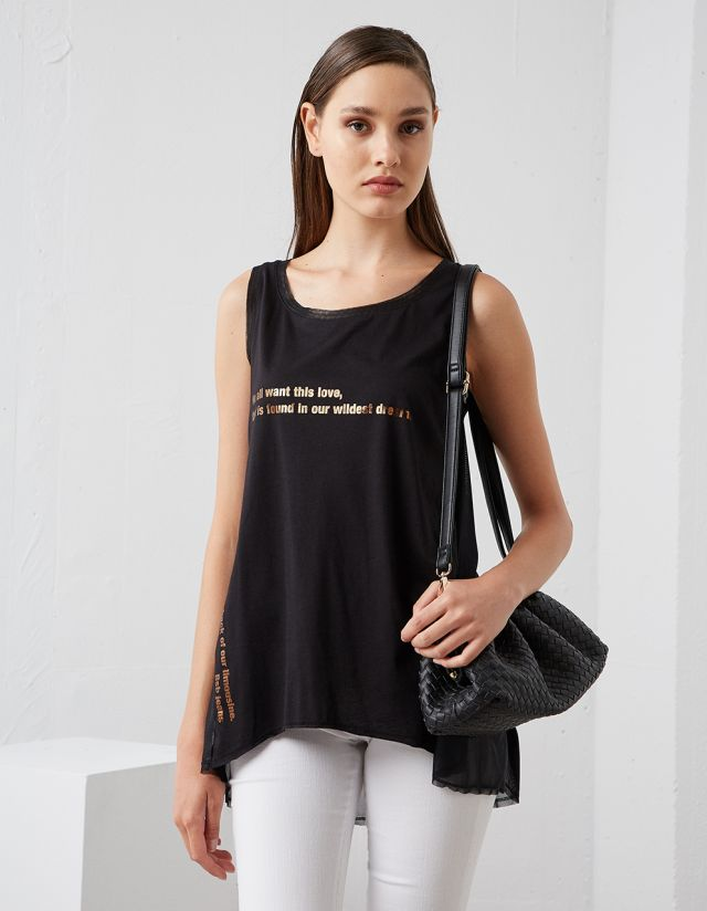 T-SHIRT WITH METALLIC BACK