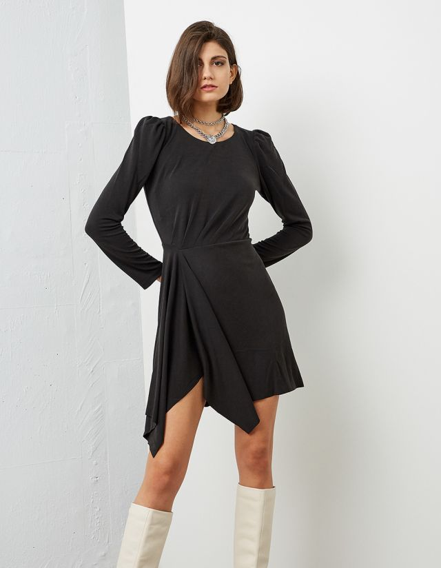 DRESS WITH ASYMMETRIC FRONT