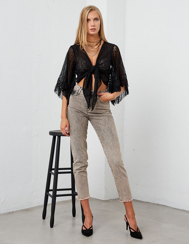 HIGH WAISTED GRACE MOM FIT JEANS