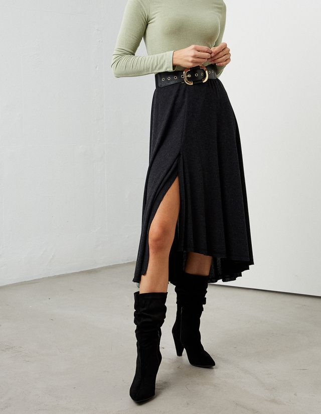 MIDI STRETCH SKIRT