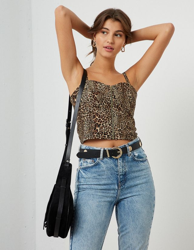 CROP TOP ANIMAL PRINT