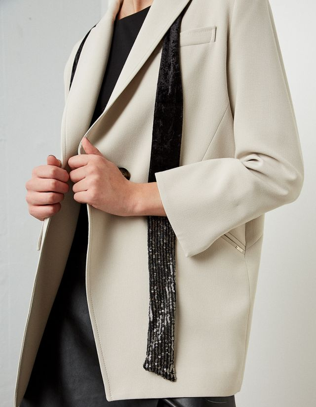 SLIM SCARF WITH SEQUINS
