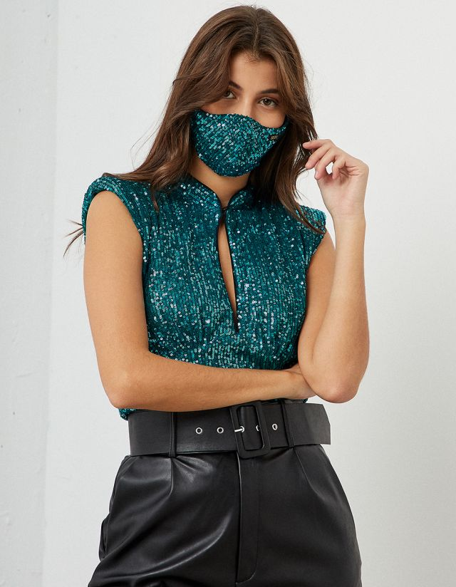 PROTECTIVE SEQUIN MASK