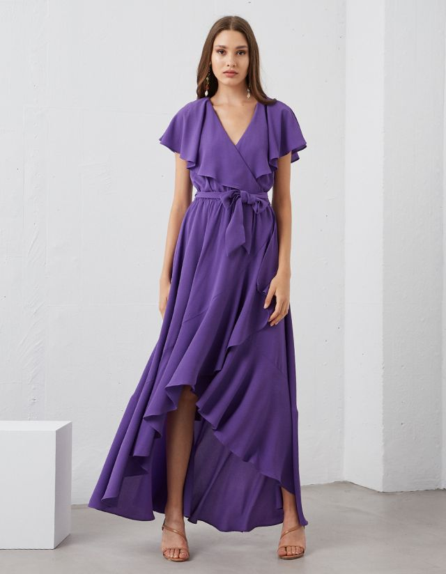 MAXI DRESS WITH RUFFLES