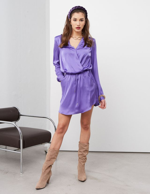 SATIN TOUCH MINI DRESS