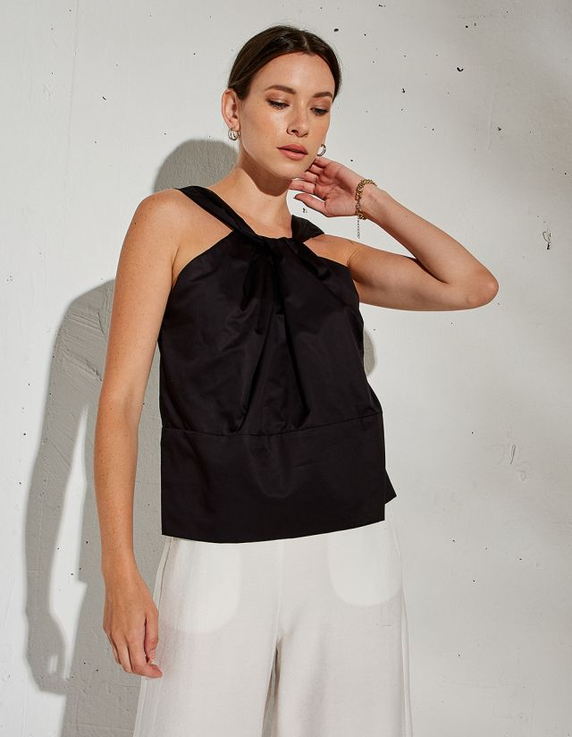 COTTON BLOUSE WITH KNOT