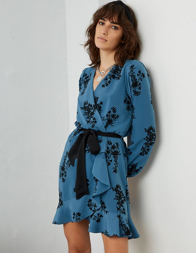 WRAP DRESS WITH PRINT