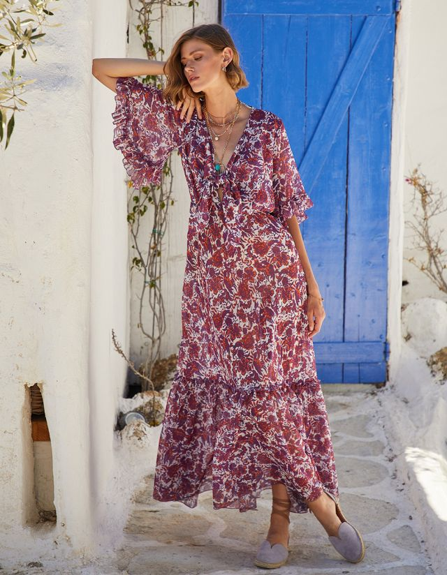 FLORAL DRESS WITH KNOT