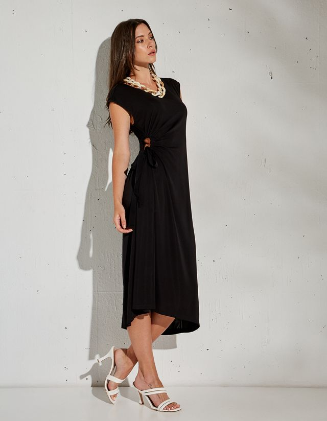 DRESS WITH SIDE CUT OUT