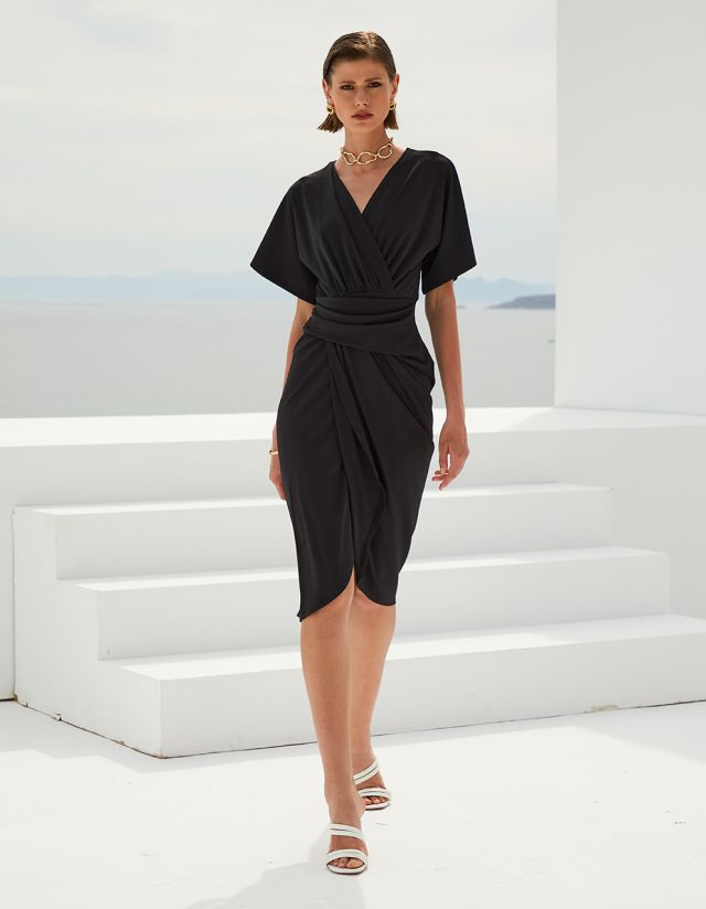 BODYCON WRAP DRESS