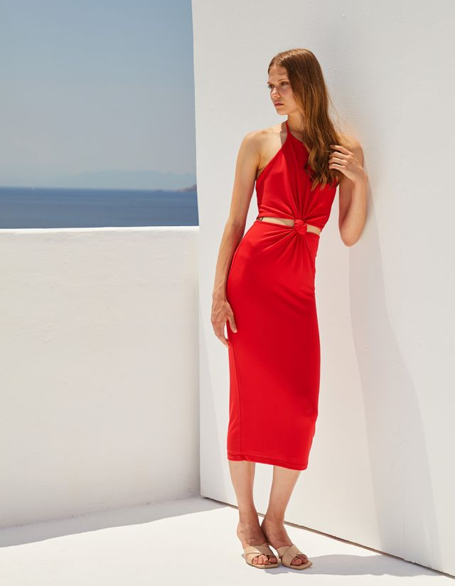 DRESS WITH CUT OUTS