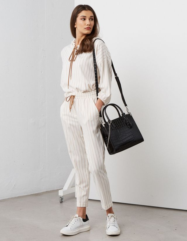 STRIPE TROUSERS WITH WAISTBAND