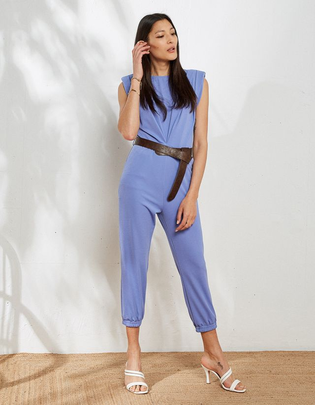 JUMPSUIT WITH SHOULDER PADS
