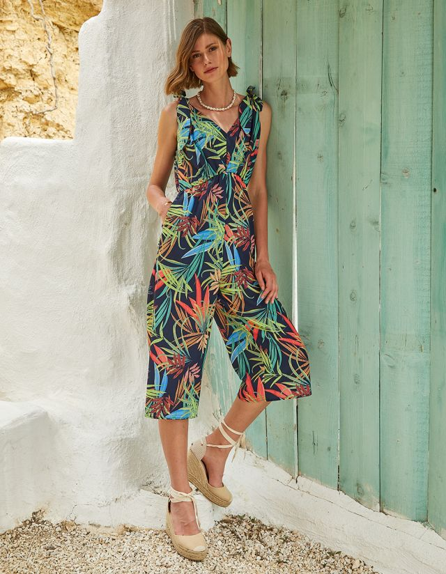 JUMPSUIT WITH TROPICAL PRINT