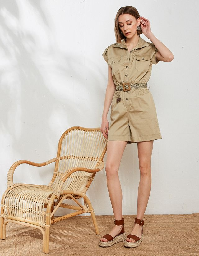 PLAYSUIT WITH BELT