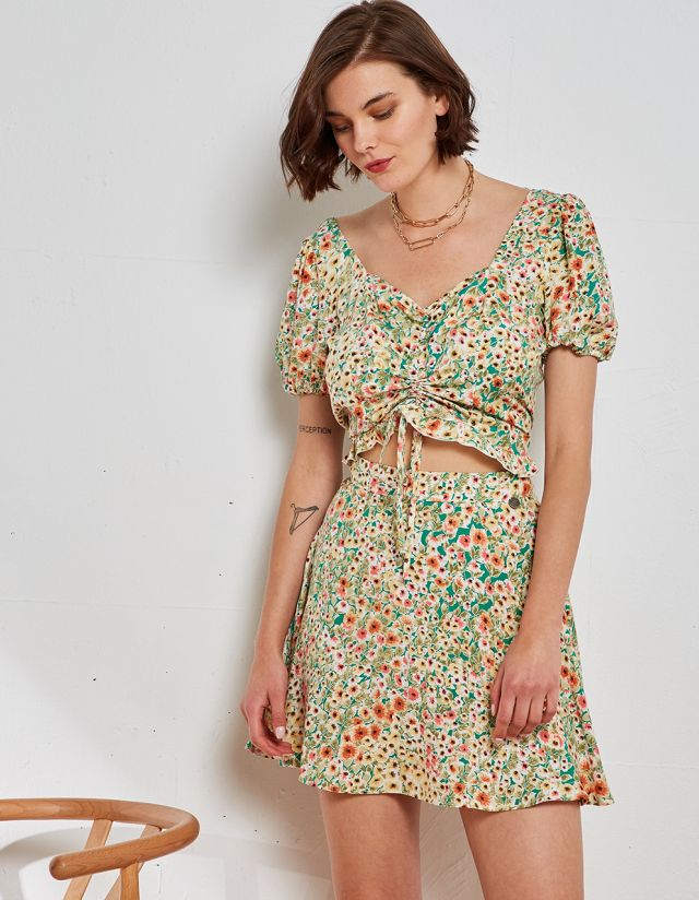 DITSY FLORAL PRINT TOP