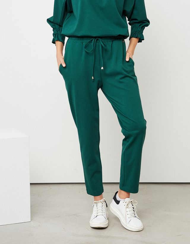 SWEATPANTS WITH ELASTICATED BAND