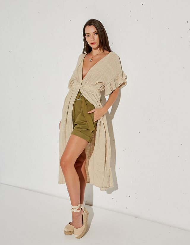 KAFTAN WITH LINEN TOUCH