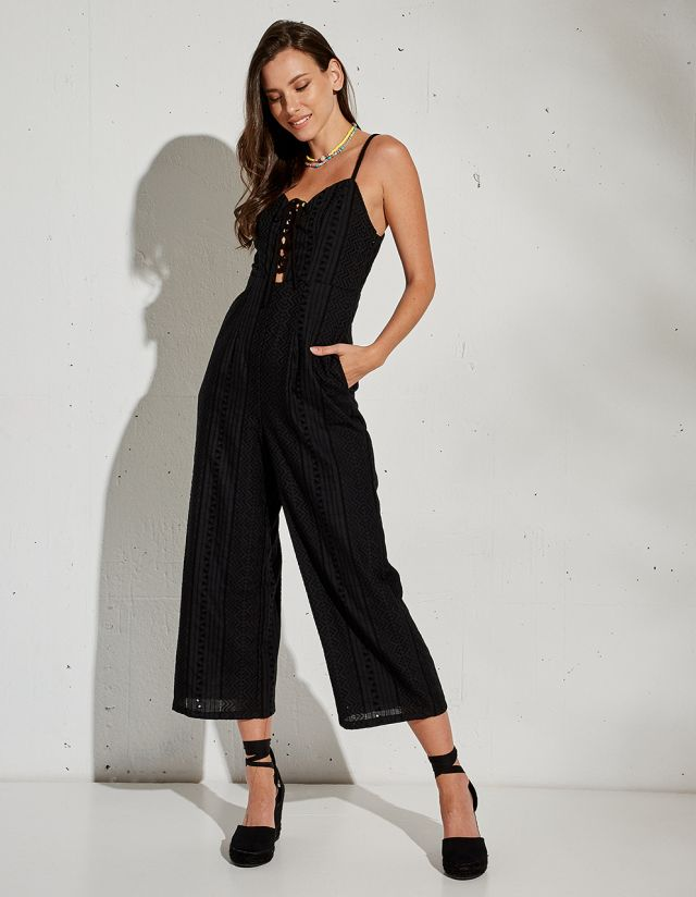 JUMPSUIT WITH CUTWORK EMBROIDERY