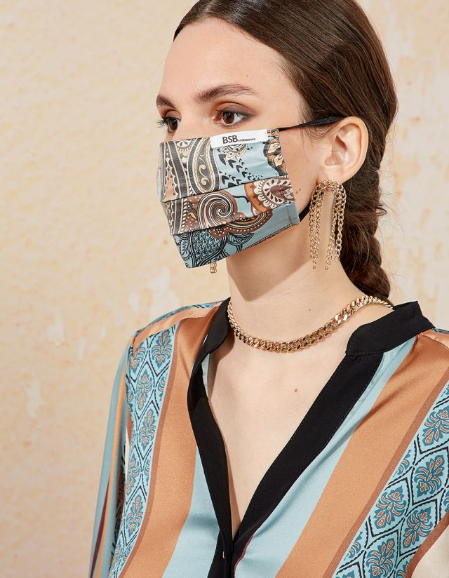 SATIN PRINTED MASK