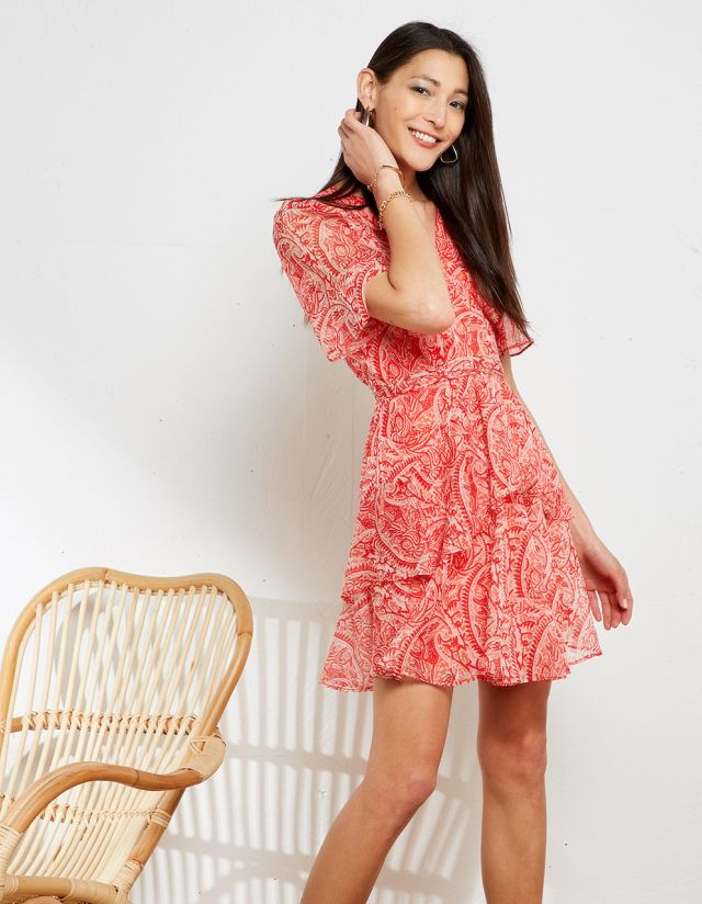 MINI PAISLEY PRINT DRESS