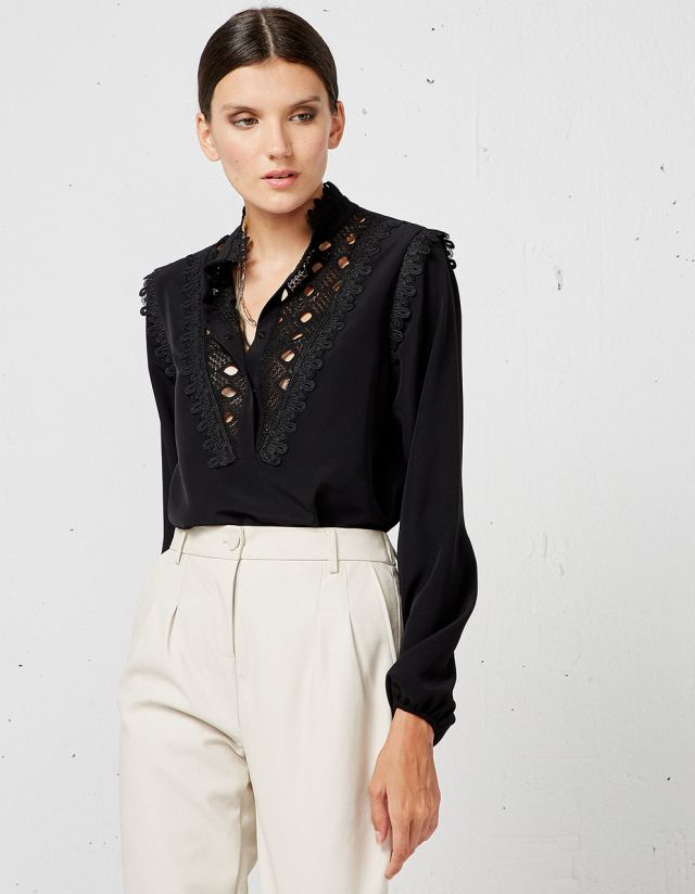 BLOUSE WITH CUTWORK EMBROIDERY