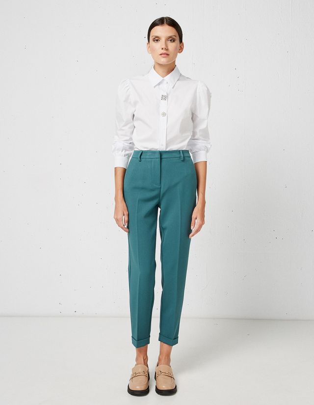 TAILORED PLEATED TROUSERS
