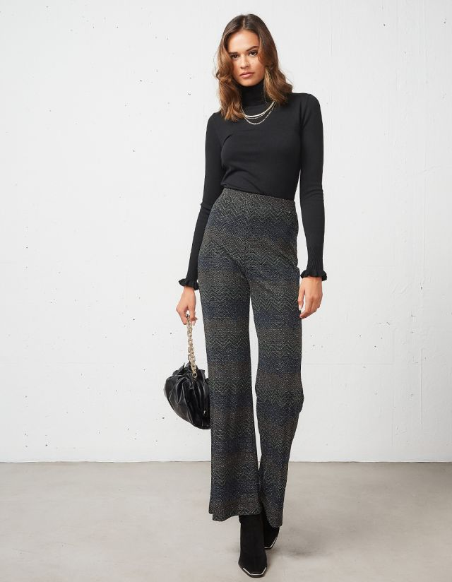 LUREX FLARED TROUSERS