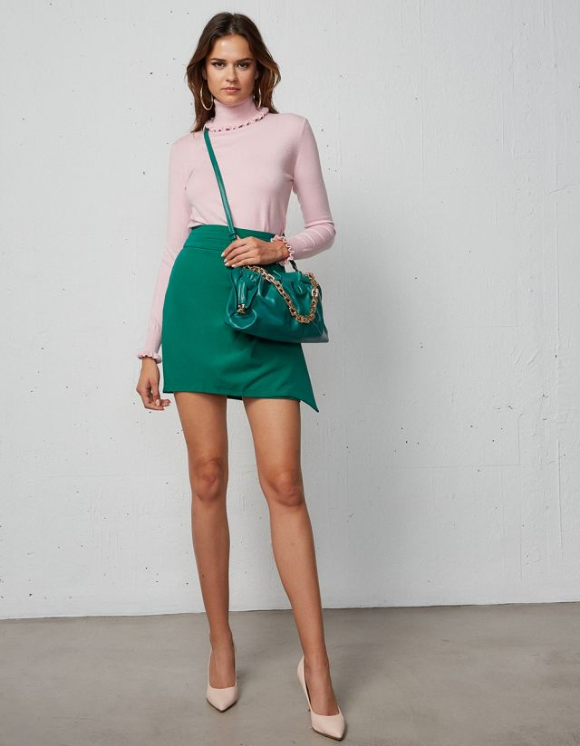 MINI SKIRT WITH FRONT DETAIL