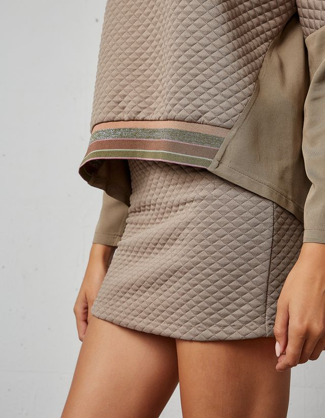 QUILTED BLOUSE