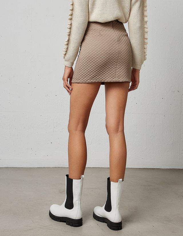 MINI QUILTED SKIRT