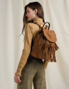 LEATHER SUEDE BACKPACK