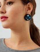 ROUND EARRINGS WITH SHINY STONES