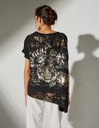 BLOUSE WITH BACK SIDE PRINT