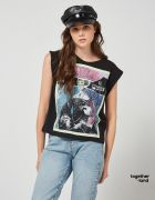 SLEEVELESS BLOUSE WITH FRONT PRINT - TOGETHERLAND